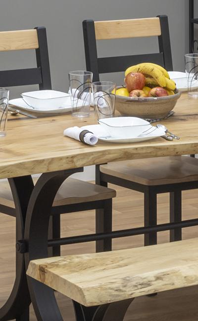 Morris Hill Metal Craft Live Edge Dining Set
