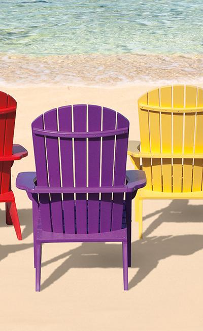 Country View Lawn Furniture Poly Adirondack Chairs