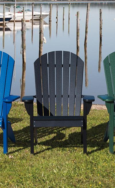 Country View Lawn Furniture Poly Fanback Chairs