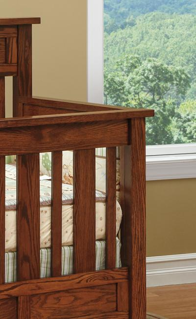 Fisher's Quality Products Mission Conversion Crib Set