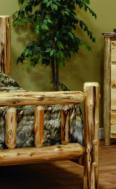 Countryside Rustic Log Rustic Style Bedroom Set w/ Clearcoat