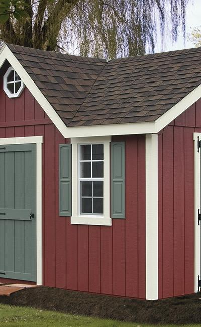 B&B Structures Elite A-Frame Storage Shed