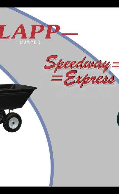Lapp Welding Shop Dumper Wagon and Speedway Express Wagon