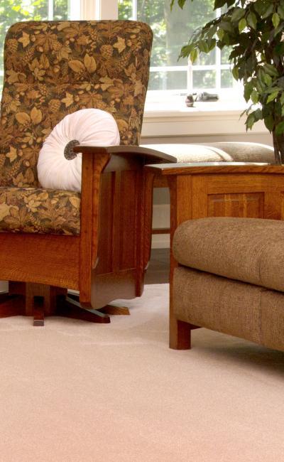 Elm Crest Furniture Paneled Mission Living Room