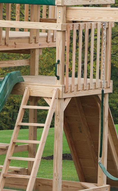D&S Woodworking Model 1401 Wood Play Set