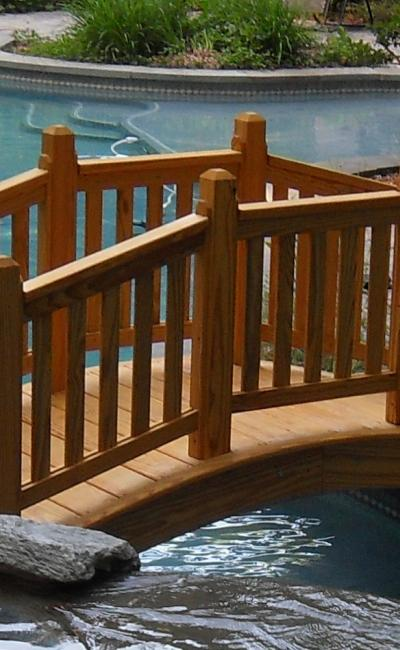 Smucker's Woodcrafts Wood Victorian Garden Bridge
