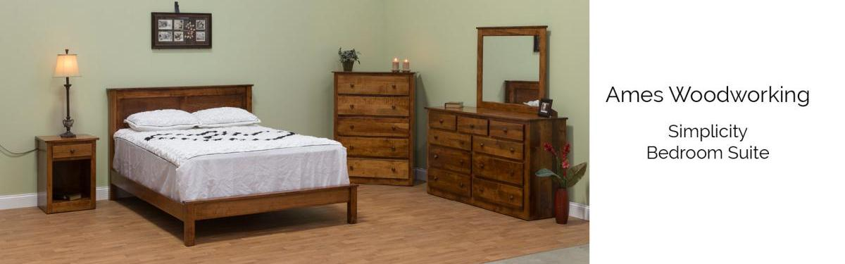 Ames Woodworking Simplicity Bedroom Suite