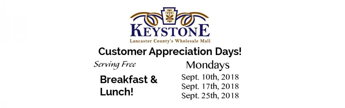 Keystone Cash and Carry Customer Appreciation