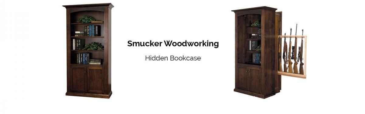 Smucker Woodworking Hidden Bookcase Gun Cabinet