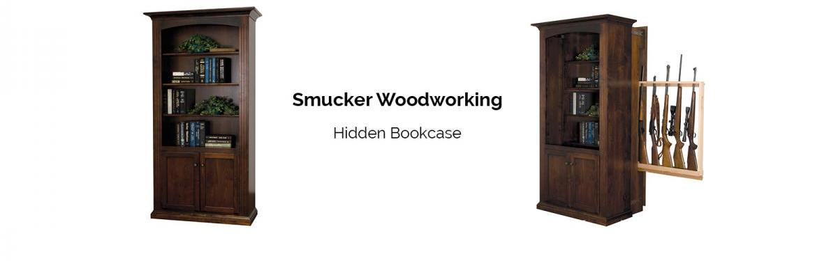 Smucker Woodworking Hidden Bookcase Gun Cabinet