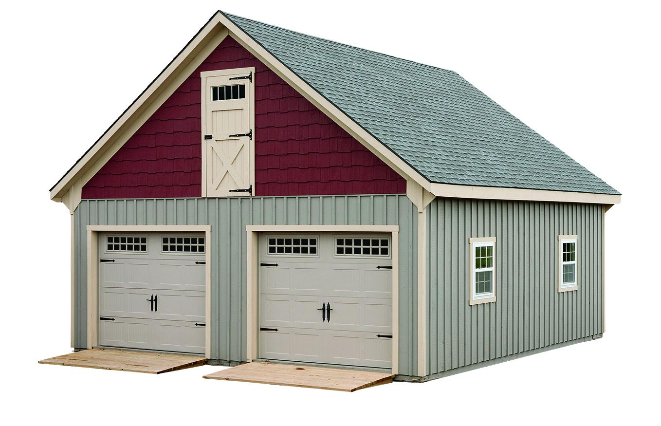 J n structures all american wholesalers for 2 story garage plans with loft