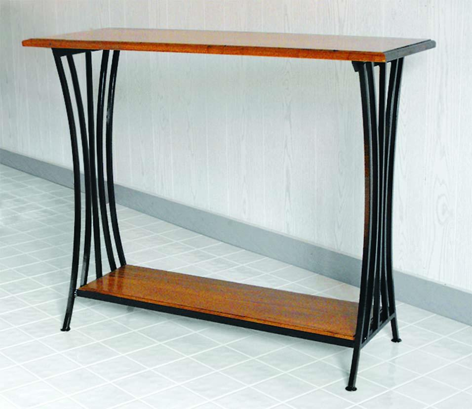 Superbe Morris Hill Metal Craft Hall Table