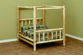 Countryside Rustic Log Classic Canopy Bed