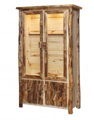 Countryside Rustic Log 12 Gun Cabinet