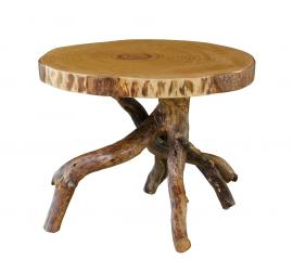 Countryside Rustic Log Live Edge End Table