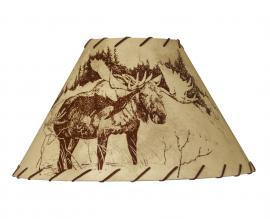 Countryside Rustic Log Moose Lamp Shade