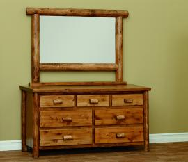 Countryside Rustic Log Seven Drawer Chest