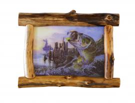 Countryside Rustic Log Rustic Picture Frame with Picture