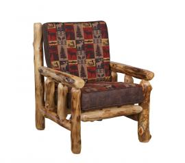 Countryside Rustic Log Upholstered Chair