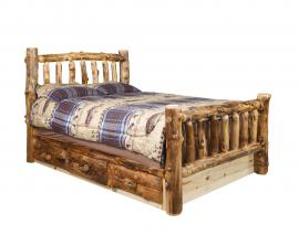 Countryside Rustic Log Captain Bed