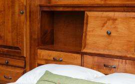 Mt. Eden Woodworks Attached Wall Unit and Drawers