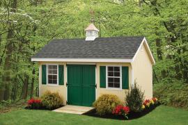 Rainbow Garden Structures 10x16 Keystone Quaker Storage Shed