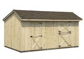 Solanco Structures Shed Row Barn with Tack Room