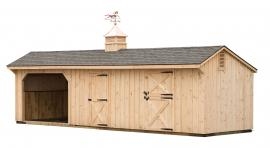 J&N Structures 10x36 Run-In Shed Combo
