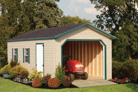 Rainbow Garden Structures 12x28 A-Frame Garage