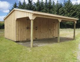 Solanco Structures Shed Row Barn with 10 foot Lean To