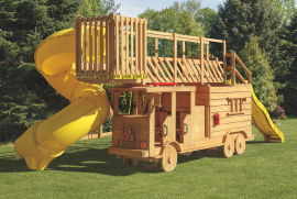 Kinzer Woodworking #1500 Ladder Fire Truck Play Set