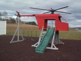 Kinzer Woodworking Helicopter Playset