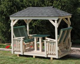 Lawn Swings Poly Gazebo Glider