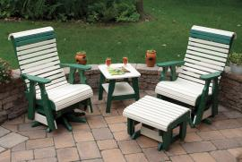 Country View Lawn Furniture Two Tone Rollback Chairs