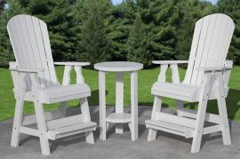 Country View Lawn Furniture White Pub Set