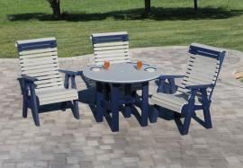 Country View Lawn Furniture Rolled Back Dining Set