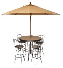 Morris Hill Metal Craft Pub Dining Set