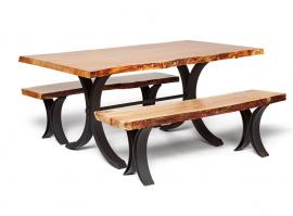 Morris Hill Metal Craft Live Edge Dining Table