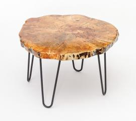 Morris Hill Metal Craft Live Edge Coffee Table
