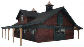 J&N Structures 36x48 High Country Cedar Horse Barn