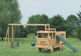 Kinzer Woodworking #500 Fire Truck Play Set