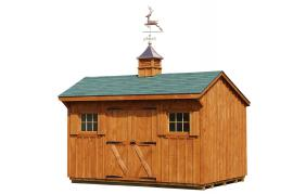 J&N Structures 10x14 Manor Storage Shed