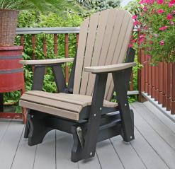 Meadowview Lawn Creations Adirondack Single Glider