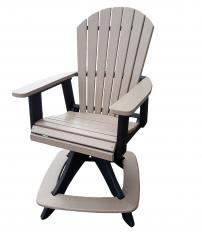 Meadowview Lawn Creations Adirondack Swivel Cafe Chair