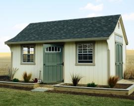 B&B Structures Backyard Cape Storage Shed