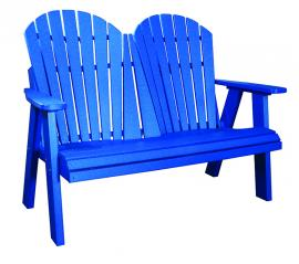 Meadowview Lawn Creations 4 ft. Adirondack Park Bench