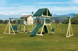 Swing Kingdom C8 Bridge Escape Playhouse