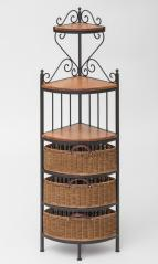 Morris Hill Metal Craft Baker's Rack