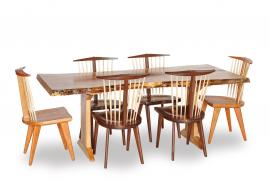 Woodland Heritage Furniture Live Edge Dining Set