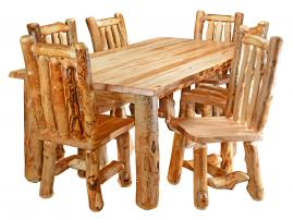 Countryside Rustic Log Rustic Dining Set